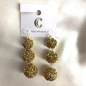NEW‼️Charming Charlie gold ball earrings